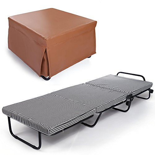 Cheapest Price! Homdox Folding Beds Sleeping Cots Portable Bed Folding Guest Beds, Bed Frame + Foam ...