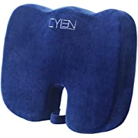 Cylen Home Memory Foam Bamboo Charcoal Infused Ventilated Orthopedic Seat Cushion (Blue)