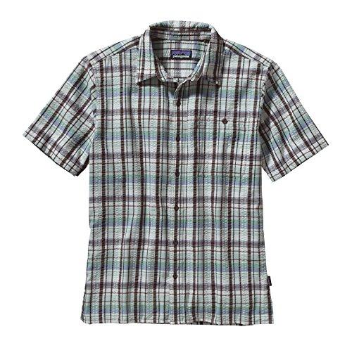 Patagonia, Camicia a maniche corte Uomo Puckerware, Marrone (Pratt Pinecone Brown), XL