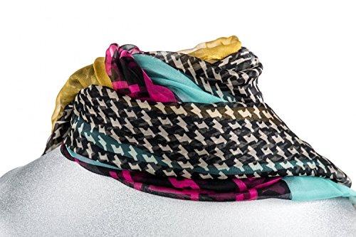 Foulard RONCATO chiffon mujer motivos amarillo mostaza box regalo bufanda L1203