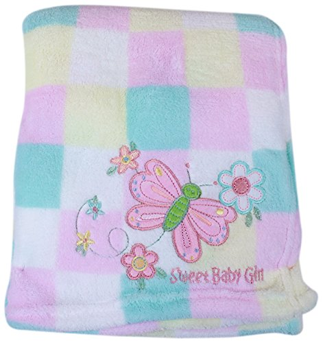 My Baby Butterfly Design Plush Blanket front-1071274