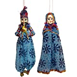 Christmas Decor Colorful Wooden Face String Puppet Set Handmade from Indiaby DakshCraft