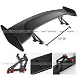 "57"" High Stand Rear GT Wing ABS Black Trunk Spoiler"
