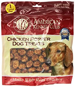 AKC Chicken Poppers Dog Treats, 16-Ounce