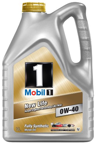 Mobil 1 New Life 151048 0W40 Fully Synthetic Motor Oil 5L
