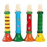 (トイホーム)Toy home  トランペット うちの子天才 子供知育玩具 カラフル 木製