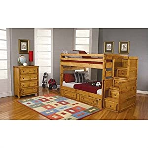 Coaster Home Furnishings 460096 Transitional Bunk Bed, Amber Wash