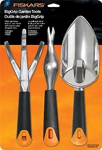 fiskars 7057 big grip gardening tool set 3 piece. Black Bedroom Furniture Sets. Home Design Ideas