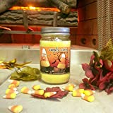 Candy Corn Natural Scented Soy Wax 12oz Halloween Candle. Aromatherapy Soy Candles Burn Cleaner ~ Longer ~ Non-Toxic ~ 100% Yinzer Made in USA. Sugar Creek Candles