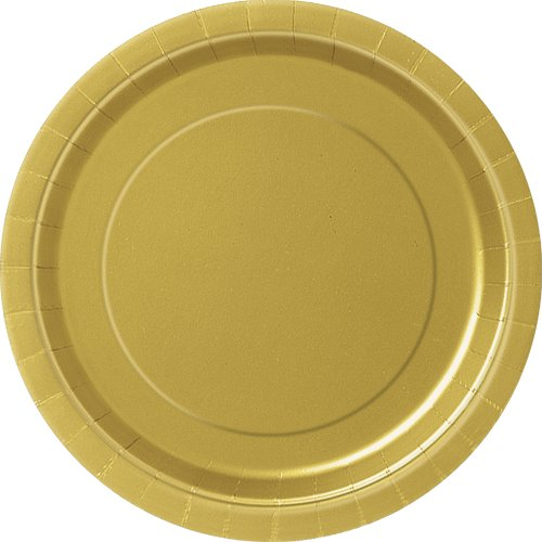 23cm-gold-party-plates-pack-of-16