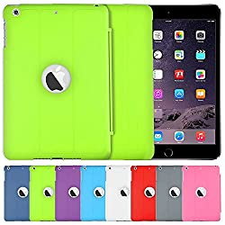 AirCase Polyurethane Smart Case with Foldable Stand & Apple Cut-out for iPad Mini3 [FLORESCENT GREEN]