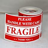 300 2x3 FRAGILE Please Handle with Care Shipping Mailing Labels Stickers