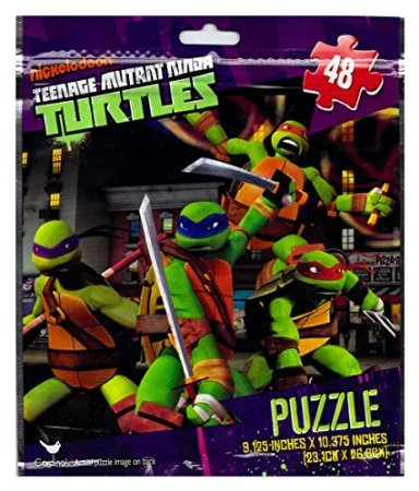 TMNT Teenage Mutant Ninja Turtles 48 Piece Puzzle on the Go in Foil Bag - 1