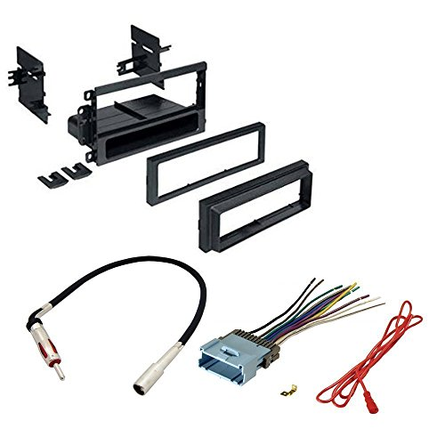Car Stereo Cd Player Dash Install Mounting Kit Wire Harness Radio Antenna for Buick Cadillac Chevrolet Gmc Hummer Isuzu Oldsmobile Pontiac 2002 - 2012 (Chevy Wire Harness For Car Stereo compare prices)