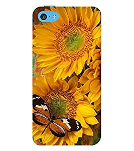 Vizagbeats butterfly on chameli flowers Back Case Cover for Apple iPhone 6 Plus