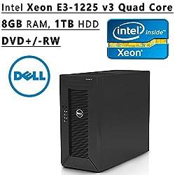 Dell Flagship PowerEdge T20 tower Server System| Intel Xeon E3-1225 v3 3.2GHz Quad Core| 8GB RAM | 1TB HDD| DVD RW | No Operating System | Black