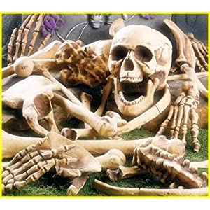 HALLOWEEN BAG OF SKELETON BONES - FULL 28 PIECE SET