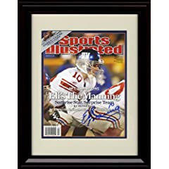 Framed Eli Manning Sports Illustrated Autograph Print - Playoff Hero - New York... by Framed Sport Prints