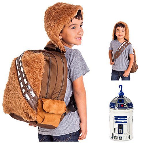 Star Wars Chewbacca Kids School Backpack with R2-D2 Insulated Lunch Bag