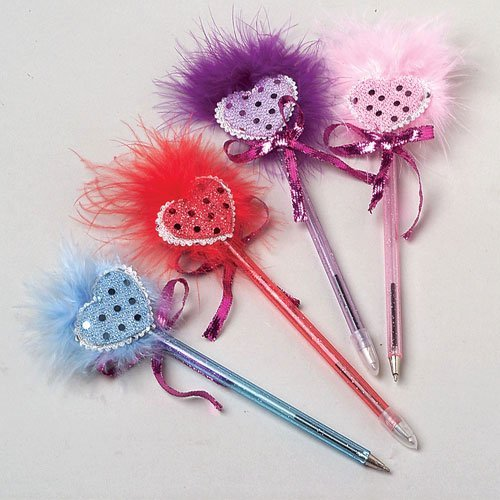 Heart Feather Pens - 1