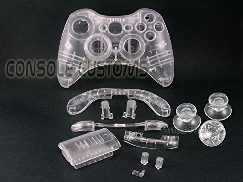 Crystal Clear Xbox 360 Controller Shell Full Housing Mod Kit Repair Parts (Xbox 360 Repair Kit Controller compare prices)