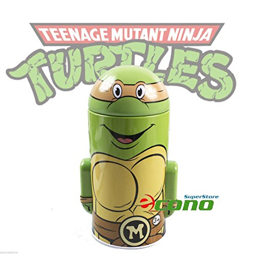 Collectable Teenage Mutant Ninja Turtle Tin Box Coin Piggy Bank Michelangelo - 1