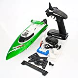 Crazy K&A Ft009 2.4 G 4 Ch Wireless Remote Control High Speed Racing Rc Boat, Water Cooling System (Green)