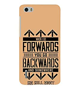 Forwards Backwards 3D Hard Polycarbonate Designer Back Case Cover for Huawei Honor 6