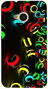 Beautiful multicolor printed protective REBEL mobile back cover for HTC One M7 D.No.N-L-12097-M7