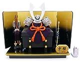 ★秀光オリジナル限定品★五月人形・兜平台飾りセット シンプルの中にもたくましさがあるのはイブシ銀の兜だけ