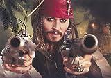 映画 パイレーツ・オブ・カリビアン ジョニー デップ 直筆サイン入り写真 ジャック スパロウ Johnny Depp
