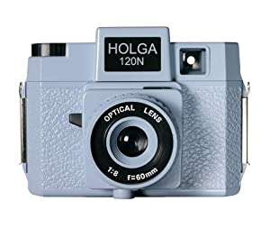Holga 174120 120N Jawz  Holgawood Collection Plastic Camera (Blue/Grey)