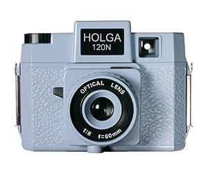 Holga 174120 120N Jawz  Holgawood Collection Plastic Camera (Blue/Grey)