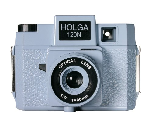 Buy Bargain Holga 174120 120N Jawz  Holgawood Collection Plastic Camera (Blue/Grey)