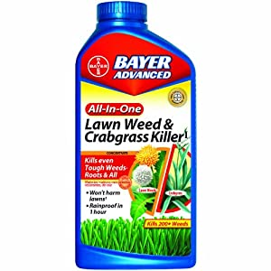 Bayer Advanced 704140 All In One Lawn Weed And Crabgrass Killer Concentrate 32
