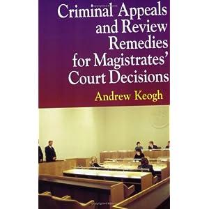 Amazon.com: Criminal Appeals Review Remedies P (9781854319739 ...