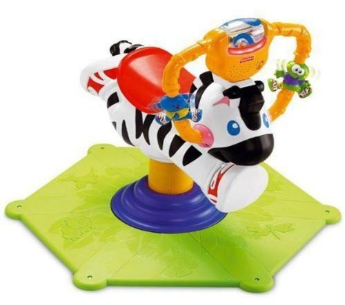 Fisher-Price Go Baby Go Bounce & Spin Zebra