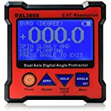 Floureon® Axis Level Box Inclinometer Dual Axis Digital Angle Protractor with 5 Side Magnetic Base (DXL360S)