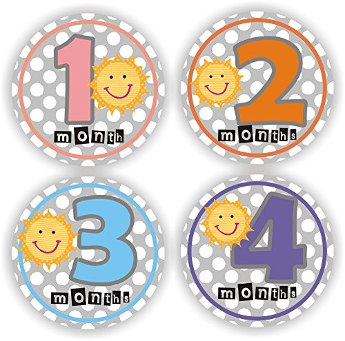 Philly Art & Crafts Baby Stickers - Sunny Baby Month Stickers - Baby Monthly Stickers - Baby Shower Gift