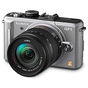Panasonic Lumix DMC-GF1 12.1MP Micro Four-Thirds Interchangeable Lens Digital Camera with 14-45mm Lens (Silver) + WSP Mini Camera Tripod.