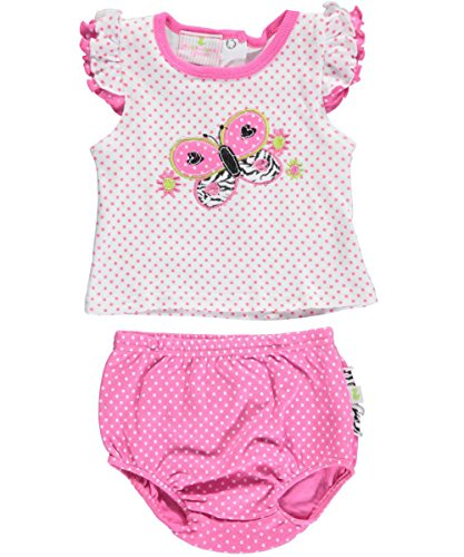 "Duck Duck Goose Baby Girls' ""Butterfly Dots"" 2-Piece Outfit"