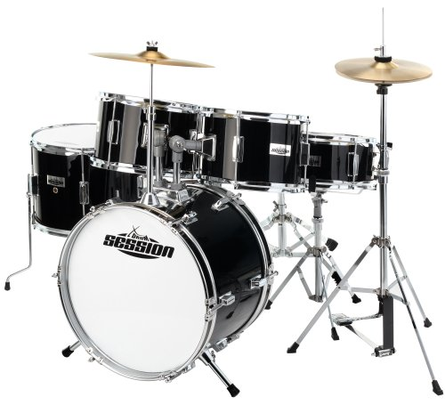 xdrum-junior-pro-kinder-schlagzeug-drumset-geeignet-von-5-9-jahren-mit-viel-zubehor-schule-dvd-schwa