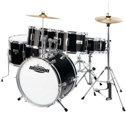 xdrum-junior-pro-kids-drum-set-black-drum-school-booklet-dvd