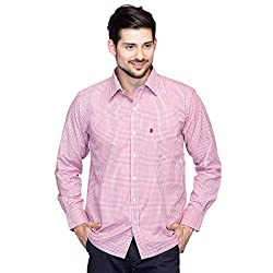 Oxolloxo Men's Red Cotton Shirt