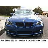 Fit for BMW 3 Series 2009-2012 E90 E91 12 Slats Bars Grilles Bonnet Hood Kidney Clip in Inserts Grille Stripes Cover Decor M Sport Tech Power Performance 3 Color