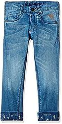 UFO Boys' Jeans (AW-16-DF-BKT-278_Indigo_14 - 15 years)