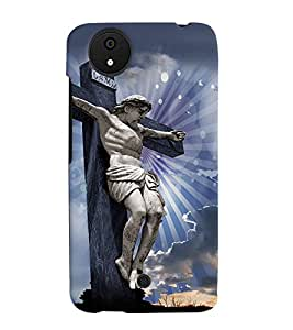 PRINTVISA Religious Jesus Christ Case Cover for Micromax Canvas Android A1