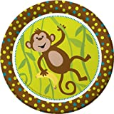 "Monkey Party Plates - 9"""