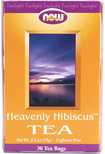 Now Foods Heavenly Hibiscus Tea, Caffeine Free,  30 Count 2 Ounce Boxes (Pack Of 5)