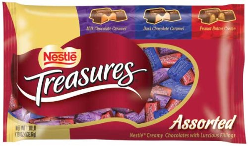 Buy Nestles Treasures Assorted Chocolates, 19-Ounce Bags (Pack of 4) (Nestle, Health & Personal Care, Products, Food & Snacks, Snacks Cookies & Candy, Candy)